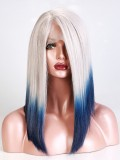 Straight Ombre Color Bob Synthetic Lace Front Wig-sy111