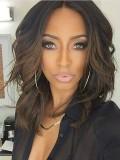 Custom Shoulder Length Human Hair Wavy Full Lace Lob - WST086