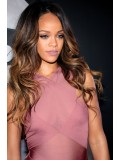 Stock Rihanna Inspired Ombre Full Lace Human Hair Wig With Highlight - RR088