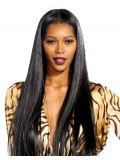 Jessica White inspired long straight full lace human hair Wig- JW026