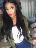 kylie Jenner Inspired Black Long Straight Full Lace Wig-KJ012