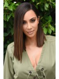Kim inspired sleek ombre side part full lace human hair bob - KM088