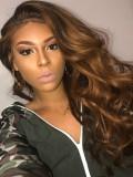 Mocha Honey Human Hair Lace Wig - NEWIN001