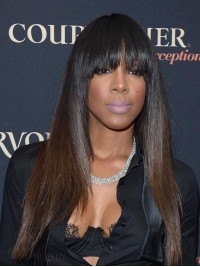 Stock Kelly Rowland Ombre Human Hair Lace Wig-Straight-sc005