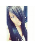 Custom Kim Straight Human Hair Wig-Straight-sc021
