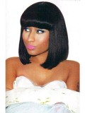 Custom Straight Bob Full Lace Wig with Bang-Straight-sc036