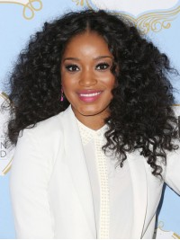 Keke Palmer Curly Human Hair Full Lace Wig-Curly-cc021