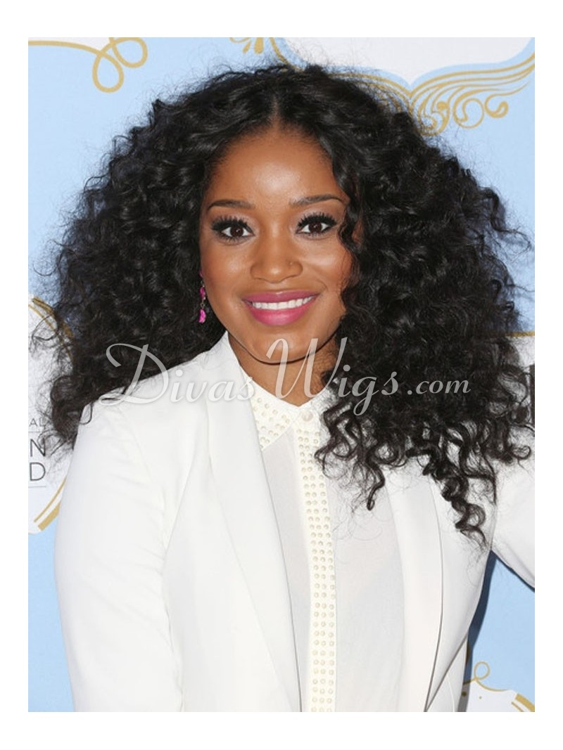 Keke Palmer Curly Human Hair Full Lace Wig Curly Cc021 Shop By