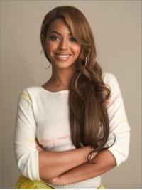 Custom beyonce Wavy Human Hair Lace Wig-Wavy-wc007
