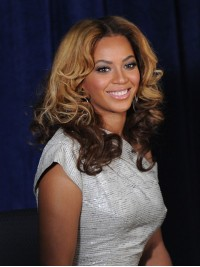Stock beyonce Wavy Human Hair Lace Wig-Wavy-wc010