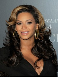 Stock beyonce Wavy Human Hair Lace Wig-Wavy-wc012
