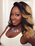 Custom LaLa Vazquez Wavy Human Hair Full  Lace Wig-Wavy-wc066