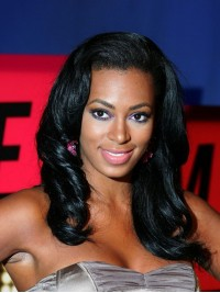 Custom Solange Wavy Human Hair Full  Lace Wig-Wavy-wc088