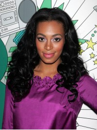Custom Solange Wavy Human Hair Full  Lace Wig-Wavy-wc090