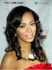 Custom Solange Wavy Human Hair Full  Lace Wig-Wavy-wc091