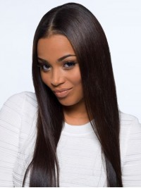 Stock Straight Human Hair Full  Lace Wig-Straight-sst001