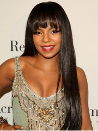 Ashanti inspired Stock Straight Full Lace Wig with Bang-sst006