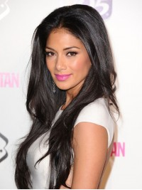 Custom Nicole Scherzinger Human Hair Full Lace Wig-Straight- SST022