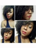Human Hair Full Lace Wig Curly Ash Brown