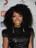 Stock Brandy Norwood Curly Human Hair Full Lace Wig-Curly-CST004
