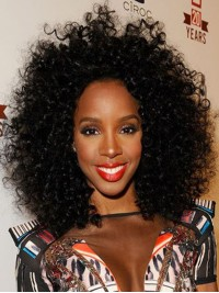Stock Kelly Rowland Curly Human Hair Full Lace Wig-Curly-cst008