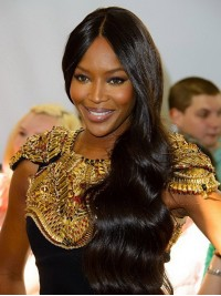 Stock Naomi Campbell Wavy Human Hair Lace Wig-Wavy-wst002