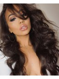 Stock Kim Inspired Wavy Human Hair Full  Lace Wig-Wavy-WST026