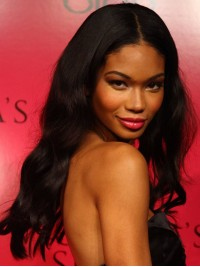 Stock Chanel Iman Wavy Human Hair Full  Lace Wig-Wavy-wst030