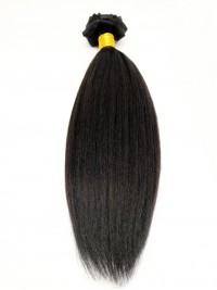 100% Virgin Human Hair Clip In Hair Extension-Yaki Straight-yk001