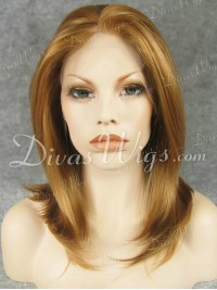 "14"" Short Natural Straight Synthetic Lace Wig-sy005"
