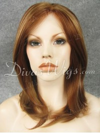 "14"" Mixed Color Straight Synthetic Lace Wig-sy006"
