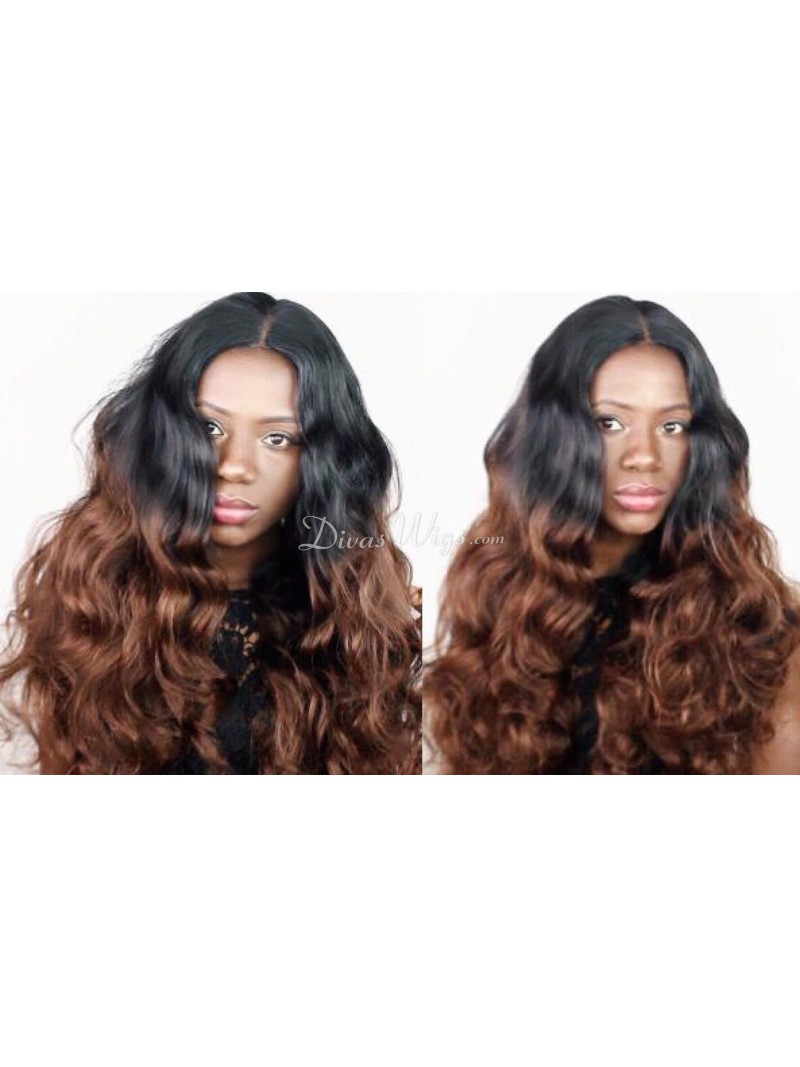 Stock Ombre Wavy Full Lace Human Hair Wig Wc030 Shop By
