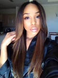 Custom Nicole Highlight Straight Full Lace Wig-sc045