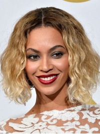 Custom Beyonce Insoired Short Bob Ombre Full Lace Wig-wc101