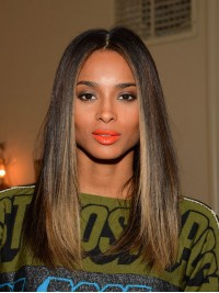 Stock Ciara Inspired Straight Full Lace Human Hair Wig-WC109