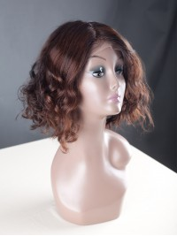 Custom Short Bob Wavy Full Lace Wig-WST037