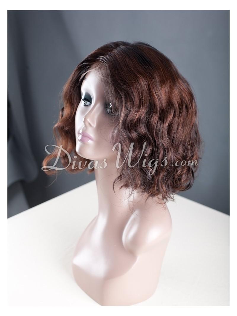 Custom Short Bob Wavy Full Lace Wig Wst037 Home