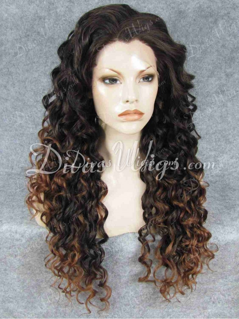 Ombre Synthetic Lace Front Wigs 69