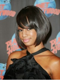 Monique Coleman Short Bob Full Lace Wig-sc020