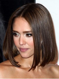 Jessica Alba inspired Full Lace Human hair Bob-sc047