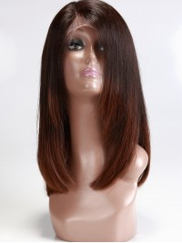 Stock Layered Brown Ombre Bob Full Lace Wig-sst005