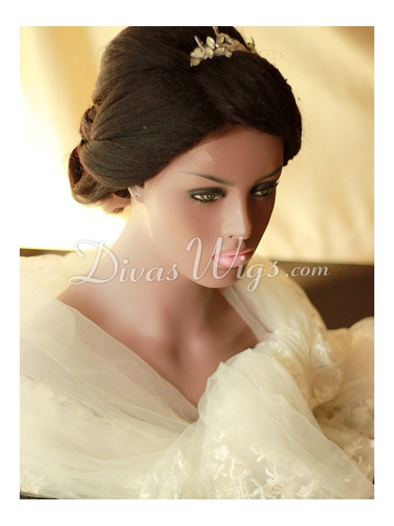 Stock Pre Styled Wedding Hairstyle Human Hair Full Lace Wig Ww004