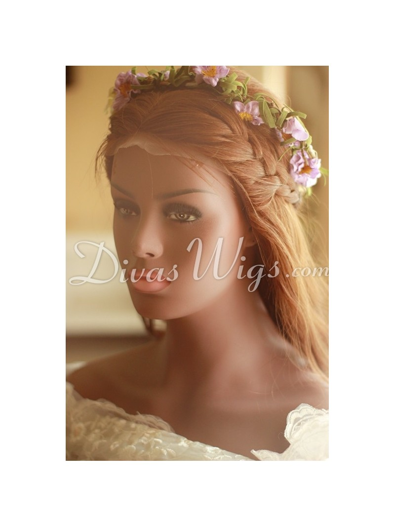 Stock Pre Styled Wedding Braids Hairstyle Human Hair Full Lace Wig