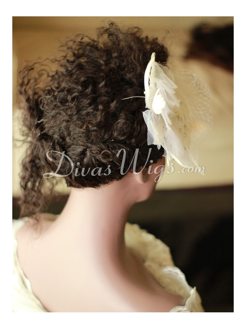 Stock Curly Wedding Hairstyles Human Hair Full Lace Wig