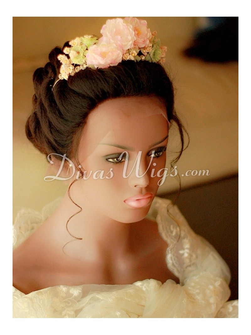 Wedding Hairstyle Human Hair Full Lace Wig Ww008 Home