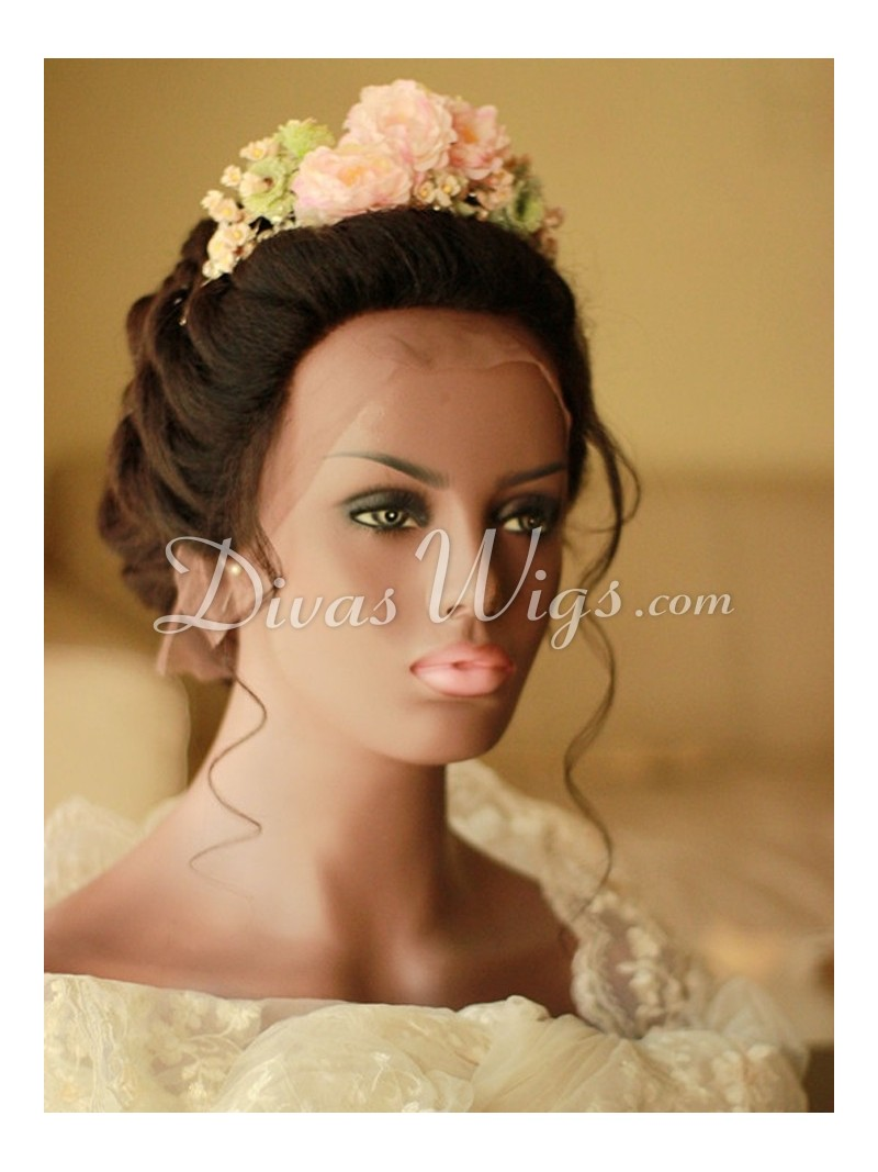 wedding hairstyle human hair full lace wig - ww008 - home