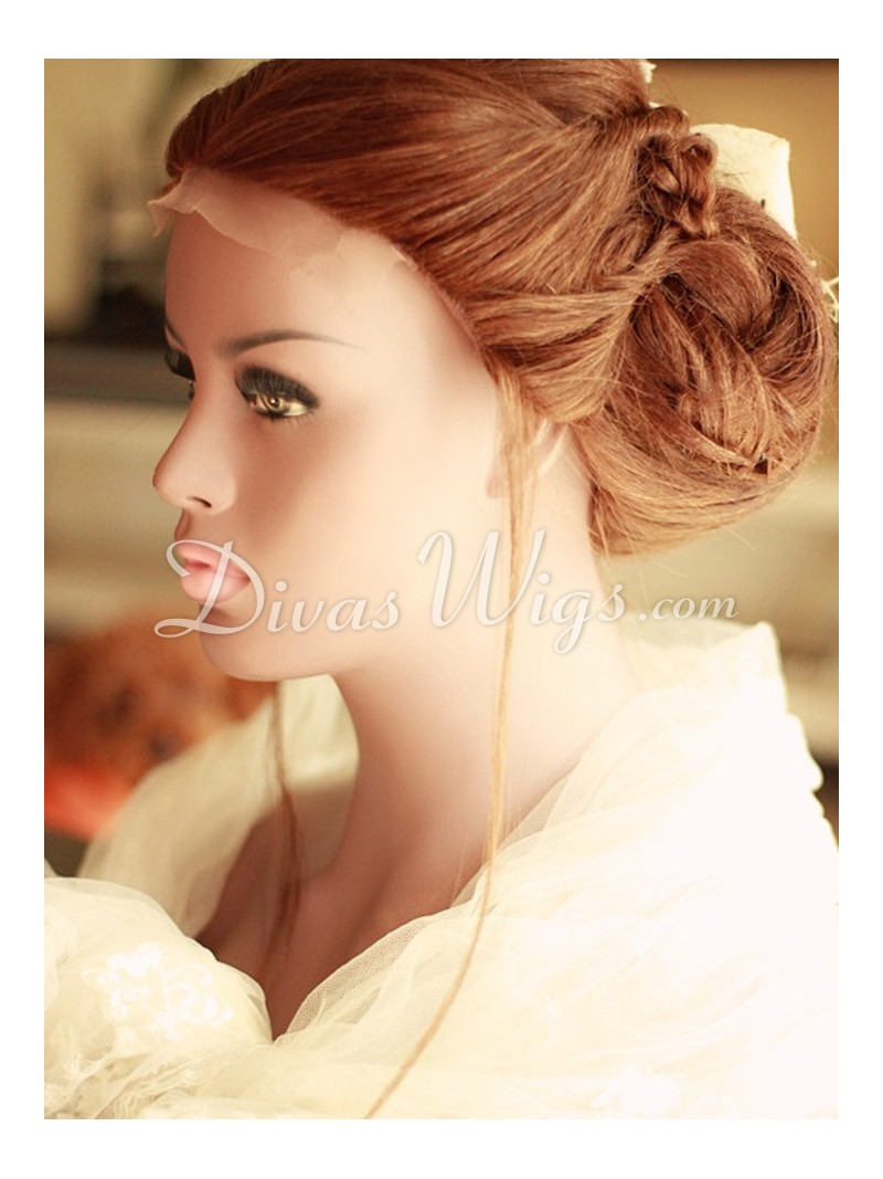 Pre-styled Human Hair Full Lace Wig In Wedding