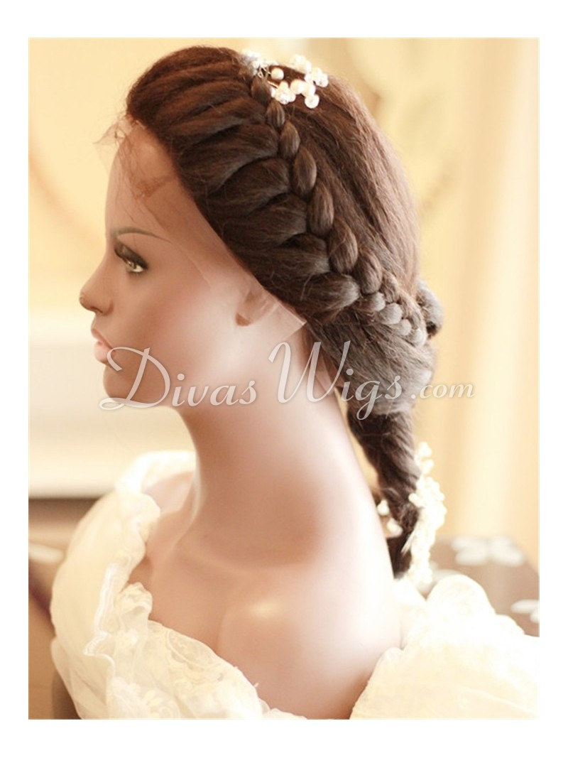 Pre-styled Wedding Human Hair Full Lace Wig - ww012 - Home - DivasWigs ...