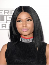 Nicki Minaj Inspired Kinky Yaki Straight Bob Full Lace Wig-sc001