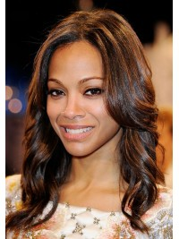 Zoe Saldana Basic Shoulder Length Wavy Full Lace Wig - cew008